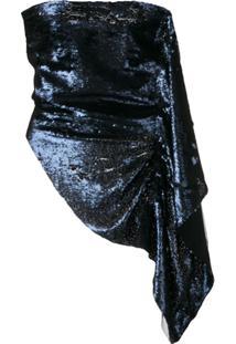 Paula Knorr Blusa Com Aplicação De Paetês - Azul
