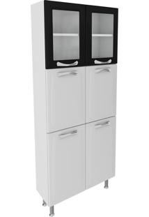 Paneleiro Duplo Itatiaia Premium Ipldv-80 Ng 6 Portas Branco/Preto