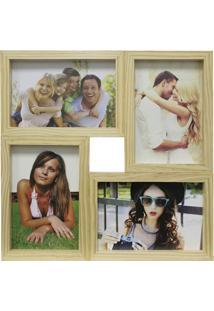 Painel Multifotos Para 4 Fotos 29,5X29,5Cm Cerejeira
