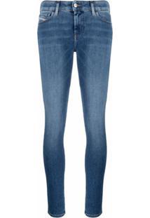Diesel Slandy Mid-Rise Super-Skinny Jeans - Azul
