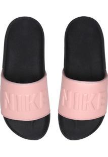 Chinelo Slide Nike Sportswear Offcourt Rosa/Preto