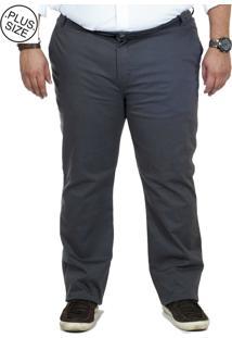 Calça Sarja Plus Size Bigshirts Chino - Cinza