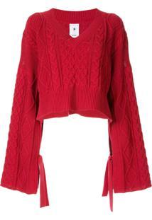 Maison Mihara Yasuhiro Oversized Cropped Sweater - Vermelho