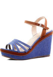 Anabela Balaia Mod133 Cor: Azul Jeans