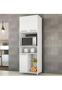 Armário De Cozinha Para Forno Com Fruteira 3 Portas Branco New - Notavel
