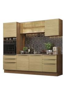 Cozinha Completa Madesa Lux 240002 Com Armário E Balcão Rustic/Carvalho Rustic