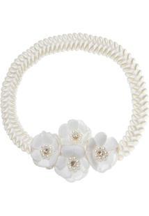 Faixa De Cabelo Trançada Bouquet & Pérolas Marfim - Roana Trd00005031 Faixa De Cabelo Trançada Especial Flores Marfim