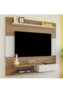 Painel Para Tv Até 50 Polegadas 1 Porta Monza Pinho/Off White - Artely