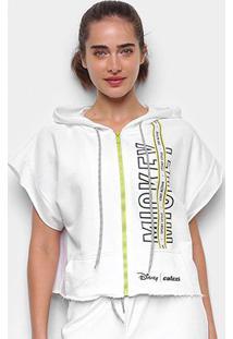 Colete Moletom Colcci Disney Mickey Capuz Feminino - Feminino