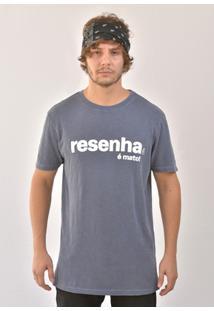 Camiseta Bora Resenha É Mato! Masculina - Masculino-Azul