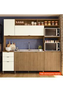 Cozinha Compacta Frow Ii 5 Pt 3 Gv Freijó E Off White 230 Cm