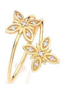 Anel Em Ouro Amarelo 18K Com Diamante - Marie 15