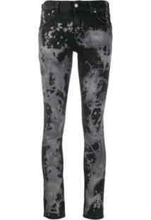 Nudie Jeans Co Calça Jeans Skinny Com Efeito Destroyed - Cinza