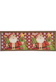 Tapete Papai Noel- Vermelho & Verde- 137X48Cm- Mmabruk