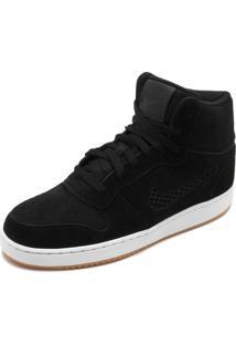 Tênis Couro Nike Sportswear Wmns Ebernon Preto