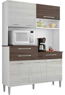 Cozinha Compacta Orion Kits Paraná Branco/Rovere/Dubai