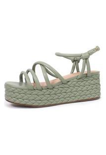 Sandália Trançada Damannu Shoes Ginnie Verde Menta