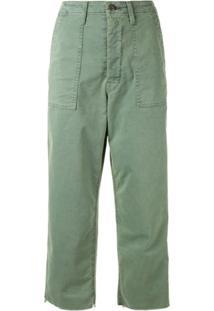 Mother Calça Jeans Private Com Bolso - Verde