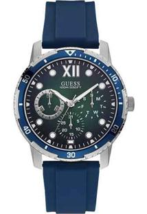 Relógio Guess Masculino Borracha Azul - W1174G1