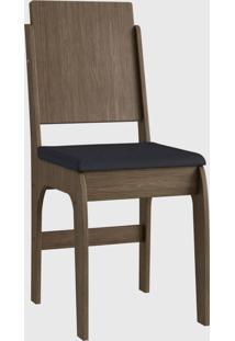 Cadeira Mdf 916 Par Marrom Móveis Canção