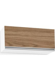 Aéreo Baixo De Cozinha Modulada 1 Porta 800Cm, Branco Fosco Com Amêndoa, Touch