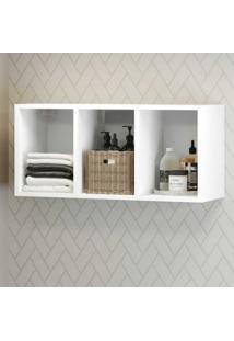 Nicho Decorativo 33 X 67 Cm Para Banheiro/Lavanderia Multimã³Veis Branco - Incolor - Dafiti