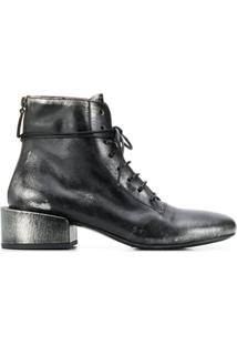 Marsèll Lace Up Ankle Boots - Preto