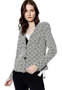 Casaco Energia Fashion Preto/Branco