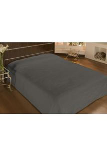 Cobertor Solteiro Microfibra Liso 1,50X2,20M Cinza - Camesa