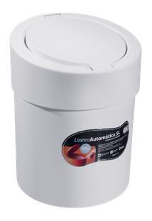 Lixeira Press 20 X 20 X 25,6 Cm 5 L Branco Coza