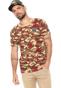 Camiseta New Era Cleveland Cavalier Bege/Verde