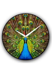 Relógio De Parede Colours Creative Photo Decor Decorativo, Criativo E Diferente - Pavão