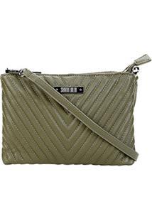 Bolsa Santa Lolla Transversal Matelassê Pequena Feminina - Feminino-Verde Escuro