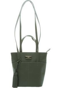 Bolsa Com Placa Metalizada- Verde Escuroarezzo & Co.