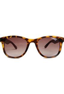 Óculos De Sol Atitude Tartaruga Feminino - Feminino-Marrom