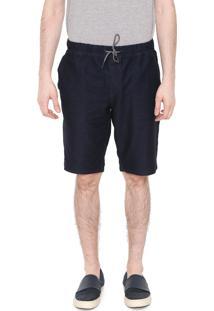 Bermuda Calvin Klein Jeans Reta Bolsos Azul