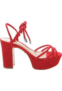 Sandália Meia Pata Strings Red | Schutz