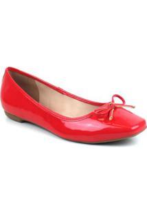 Sapatilha Verniz Emporionaka Feminina - Feminino-Vermelho