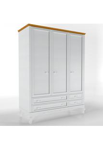 Roupeiro Versailles 1,60Mt Branco/Amadeirado Timber