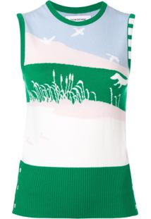 Thom Browne Blusa 4-Bar - Verde
