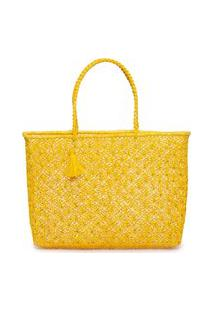 Bolsa Feminina Macramê Estrela - Amarelo