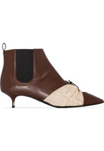 Rosie Assoulin Ankle Boot Com Recortes - Marrom
