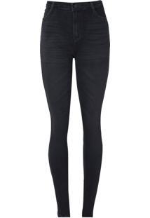 Calca Jeans Skinny D C S Stretch Black (Jeans Black Escuro, 34)