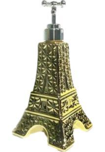 Saboneteira Wincy Porta Sabonete Dispenser Porcelana Amarela