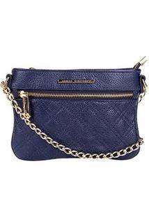 f2a42e01d Bolsa Couro Jorge Bischoff Mini Bag Basic Feminina - Feminino-Marinho