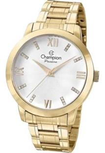 Kit Relógio Champion Analógico Cn29169B Feminino - Feminino-Dourado