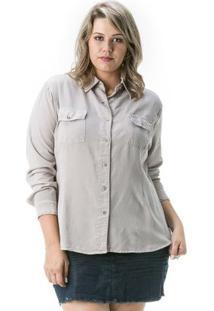d6746bcc74 R$ 99,90. Zattini Camisa Confidencial Extra Plus Size Jeans Feminina ...