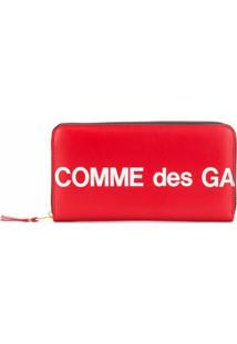 Comme Des Garçons Wallet Carteira Retangular Com Estampa De Logo - Vermelho