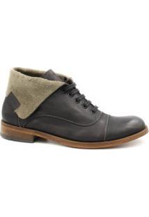 Bota Zariff Shoes Coturno Em Couro