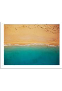 Quadro Decorativo Praia E Areia Branco - Médio
